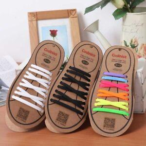 18 Stück Elastische Silikon Schnürsenkel für Sneaker Stiefel und Brettschuhe
