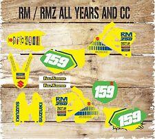 Suzuki RM H. 65 85 125 250 450 kit de gráficos de Motocross calcomanías Pegatina Kit 5