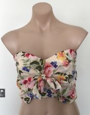 NEW SPORTSGIRL FLORAL CROP TOP SIZE 10 PARTY COCKTAIL FUNKY