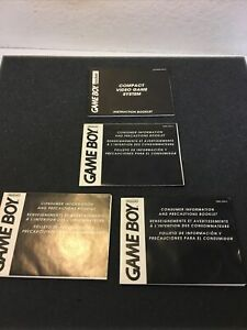 Game Boy Pocket Instruction Booklet, with 3  inserts