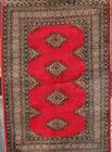 tapis / rug jaldar Bokhara Bukhara Pakistan, 94X150 cm, rouge red excellent état