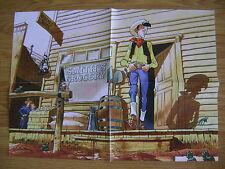 Mathieu BONHOMME - Poster Lucky Luke supplément journal Spirou n° 4076