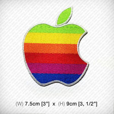 new APPLE EMBROIDERED PATCH IRON ON or SEW clothes decorate CLASSIC full color