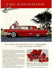 1958 Ford Thunderbird 352 Special 300 HP V-8 Golf Bags Luggage Trunk Print Ad