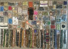 Huge Lot of 113 NEW strands and bags of beads and findings JEWELRY