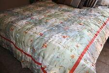 """Espirit Spice-Queen Reversible Floral Comforter Bedspread 90"""" X 86"""" bedroom/gift"""