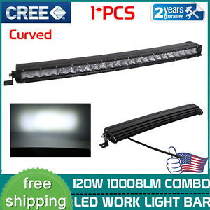 """25""""inch 120W Curved Led Light Bar Single Row Combo Offroad UTE Truck SUV 90W150W"""