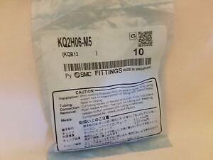 Paquet De 10 Neuf Smc KQ2H06-M5 Pneumatique Droit Connecteur Mâle Fixations, 6mm