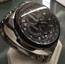 Men's Genuine Casio Edifice Chronograph Black Sports Watch Large EF-558-1AVEF