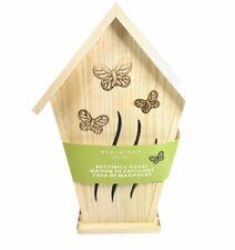 Evergreen Butterfly House Bungalow Wood 12� New Garden Wildlife Hanging Garden