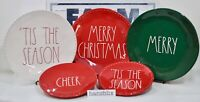 """Rae Dunn Plate Dinner Salad CHEER MERRY CHRISTMAS WITCH'S BREW """"U CHOOSE"""" NEW'19"""