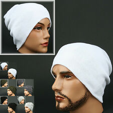Beanie MJ WHITE Skull Knit Wrap Rasta Fashion Hat