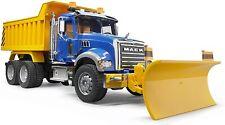 NEW Bruder MACK Granite Dump Truck with Snow Plow Blade 02825