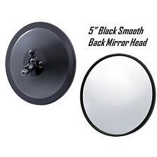 "5"" Black Smooth Exterior Door Round Rear View Mirror Head 1947-1972 Chevy Truck"