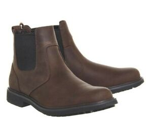 Timberland Stormbuck Chelsea Boots. Dark brown leather. Size 6. Brand New