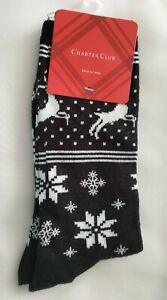 Charter Club Women's Norwegian Reindeer Socks