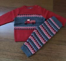 Gymboree Baby Boy Firetruck Outfit - Sweater & Pants