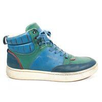 Alexander McQueen x Puma - High Top Sneakers - Blue Green Leather - Mens 11 - 44