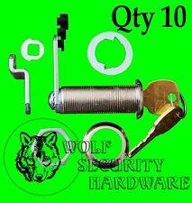 Lot of 10 National CompX Key Cam Lock Cabinet 1 3/4 Length KEYED ALIKE Chrome
