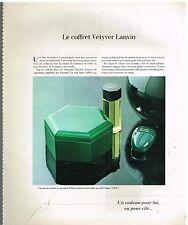 Publicité Advertising 1978 Le Coffret Eau de Toilette Savon Vetyver de Lanvin