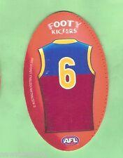 AFL 2009 RED FOOTY KICKERS TAZO #8 Luke Power, Brisbane Lions
