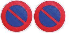 2 DISQUE PANNEAU SIGNALISATION DEFENSE DE STATIONNER ° 300 M PVC RESISTANT