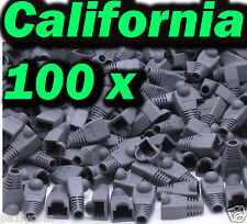 100 set RJ45 Connector CAT5 CAT6 Modular End Cap Boot Head Plug Cable Ethernet E