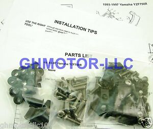 NEW 93 94 95 96 97 98 YZF750R COMPLETE FAIRING BOLTS FASTENERS SCREWS KIT USA