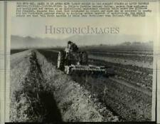 1966 Press Photo Plowing at Agricultural Experiment Farm, Central Valley, Chile