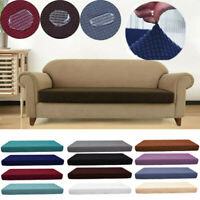 1-4 Seats Waterproof Sofa Seat Cushion Cover Couch Stretchy Slipcovers Protector