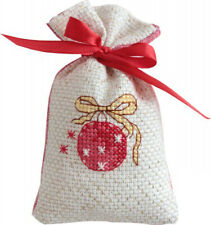 14ct Cross Stitch Kit - Luca-S - Christmas Bauble Bag kit - 11 x 7 cm Counted
