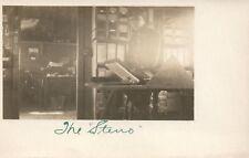 1900's Real Photo  Worker The Steno  Brown Farm Michigan Farm  PostCard