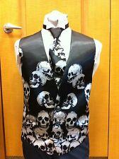 Gothic Macabre Skull Formal Vest MEDIUM