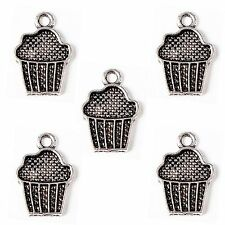 20 Tibetan silver cup cake Pendentif Charms Muffin