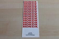 150523) Honda Civic Quintet Prelude - Preise & Extras - Prospekt 09/1981