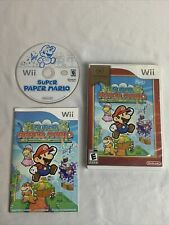 Super Paper Mario Nintendo Selects Edition (Nintendo Wii) Complete With Manual