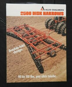 "1979 ALLIS-CHALMERS ""2500 CENTER-FOLD DOUBLE-FOLD DISK HARROWS"" CATALOG BROCHURE"