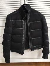 Dior Homme Daunenjacke mit schwarzen Lammleder Details. Gr 50(M) It ,Neupreis