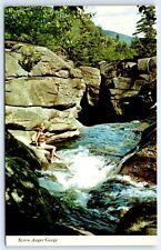 Postcard ME Screw Auger Gorge Grafton Notch Vintage Photo View A1