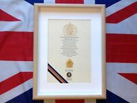 Oath Of Allegiance Corps Of Army Music (framed with metal Cap Badge)