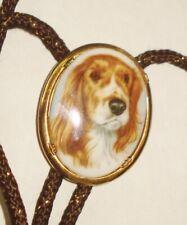 Porcelain Dog Figurine Design Vintage Western Bolo Tie