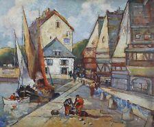 Alfred CHANZY (act.c.1920) Le port du Croisic Bretagne Guérande Loire Atlantique