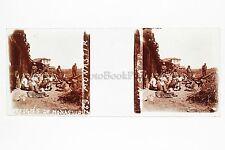 Monastir Skopje Macédoine Grèce Plaque stéréo 45x107 mm Vintage