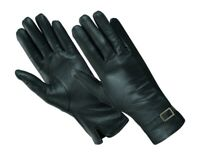 SOFT SUPPLE LADIES THINSULATE LINED QUALITY BLACK REAL LEATHER FITTED GLOVES