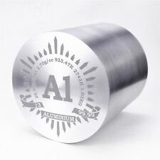 1Kg Fine Turning Aluminum Metal Cylinder dia79×79mm 99.99% Engraved Period Table