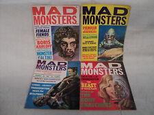 Mad Monsters 2-5 MAGAZINE SET Bela Lugosi! 1962 Charlton Comics (m 1166)