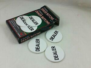 "(#G) Cardinal 3 Deluxe Standard Poker Dealer Unused Buttons 2"", Open package"