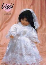"""German Lissi Grace 19"""" Bride Doll Black Hair Blue Eyes Vinyl Germany"""