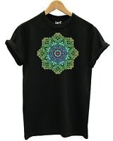 Coloured Mandala T Shirt Fashion Rainbow Pastel Pattern Tattoo Sacred Flower