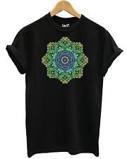 Farbige Mandala T Shirt Mode Regenbogen Pastell Muster Tattoo Heilige Blume